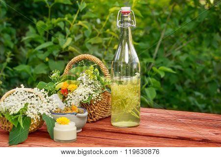 Elderflower Juice, Medicinal Herbs