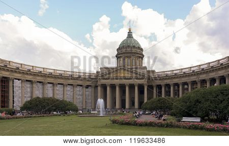 RUSSIA; SAINT-PETERSBURG - JULY 5 - Evening in the white nights on July 5; 2015 in St. Petersburg