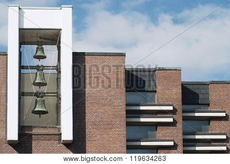 Bell tower of a Methodist church