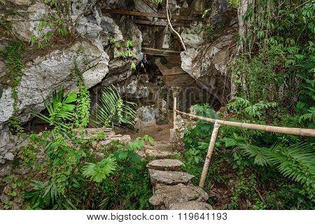 Tampangallo Burial Cave In Tana Toraja. Indonesia