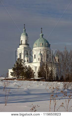 Temple of Alexander Nevsky. The village Schurala. Sverdlovsk region. Russia.
