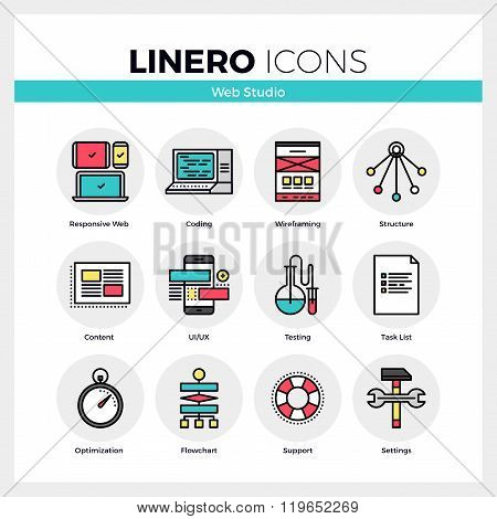 Web Studio Linero Icons Set