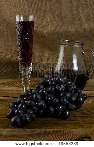 Bunch Of Dark Grapes