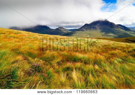 Landscape View Of Scottish Highlands In Inverpolly Area