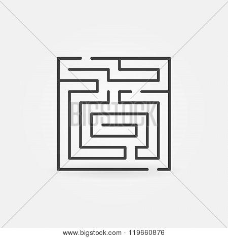 Maze thin line icon