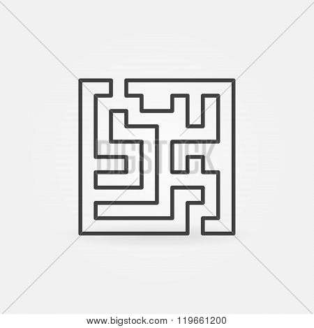 Square labyrinth vector icon
