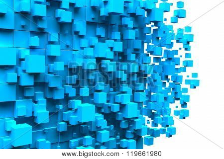cubes blue background