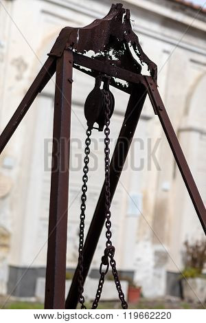 Pulley In Cemetery