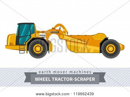 Wheel Tractor-scraper For Earthwork Operations