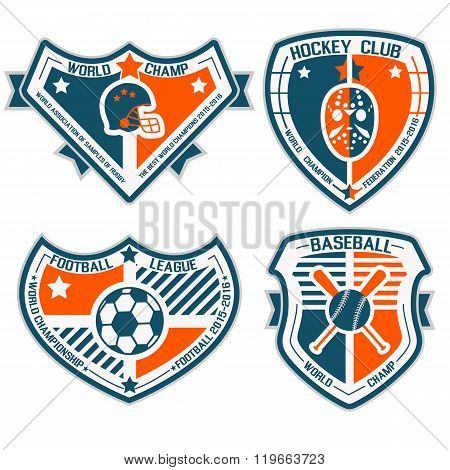 Sport Shield And Emblems