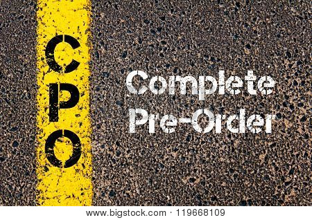 Business Acronym Cpo Complete Pre-order