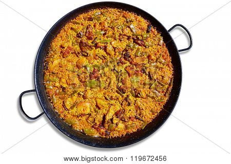 Paella from Spain rice recipe from Mediterranean