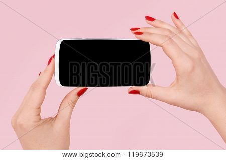 Woman And Technology.