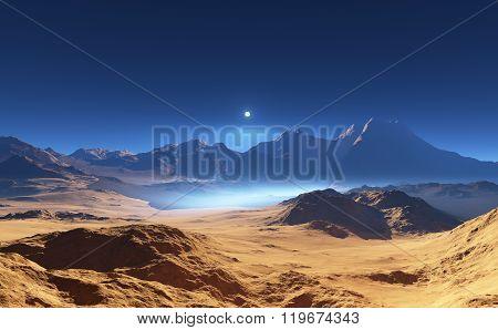 Alien Desert Landscape