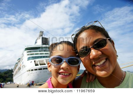 Family on Cruise Ship