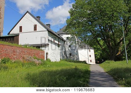 Swedish medieval castle in the town of Turku Finland poster