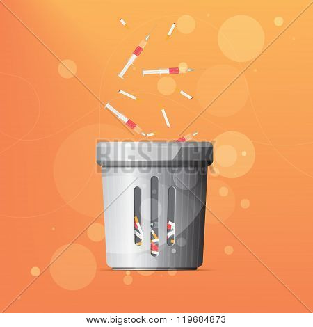 Dustbin for drugs and cigarettes
