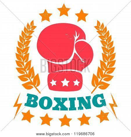 vintage logo for boxing