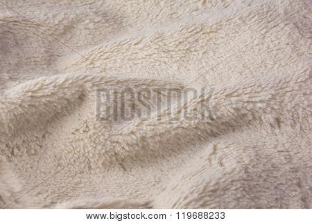 Texture Of Soft Artificial Fur Close-up