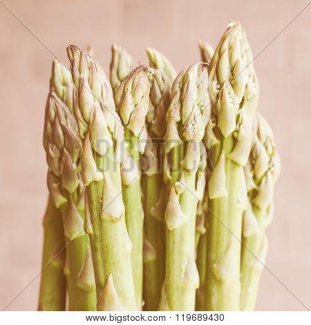 Retro Looking Asparagus Vegetable