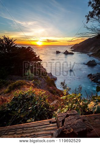 Pfeiffer Big Sur State Park Coastal Sunset