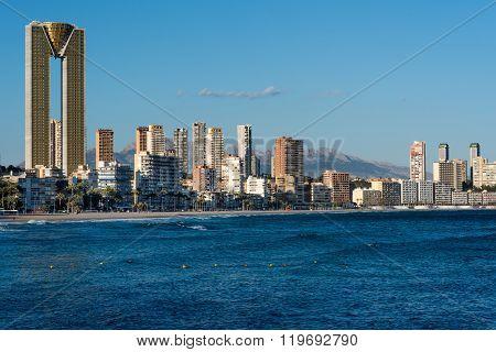 Benidorm Skyline. Spain