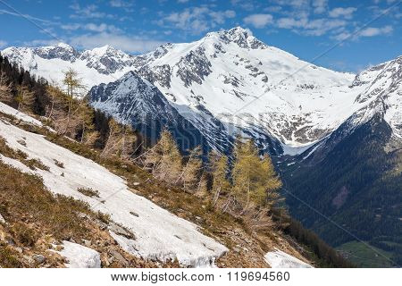 Mountain panorama in Campo Tures South Tyrol Italy