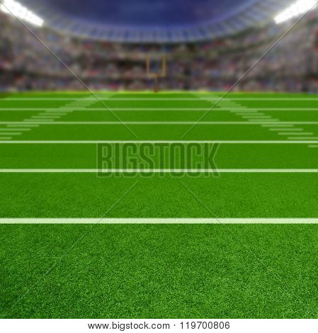 Football Stadium With Copy Space