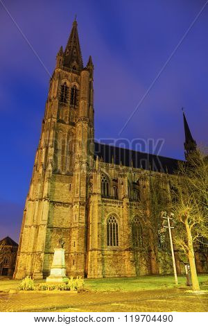 Saint Martin's Church in Ypres. Ypres West Flanders Flemish Region Belgium