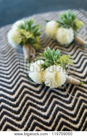 Boutonniere for groom and groomsman