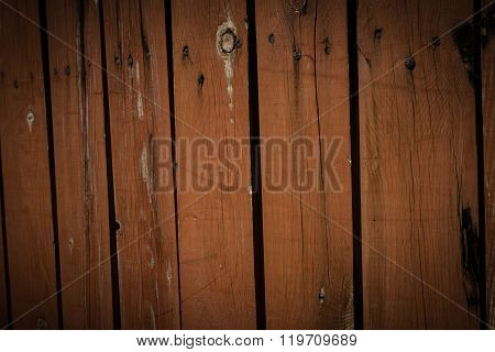 Old And Weathered Wood Plate Fence