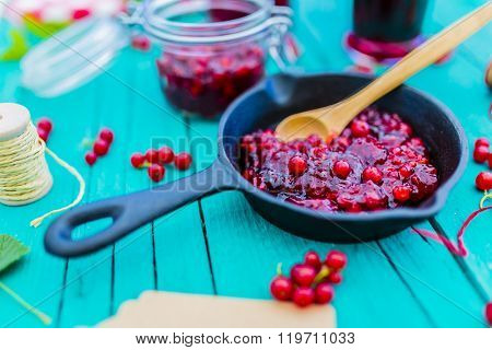 Currant - homemade red currant jam