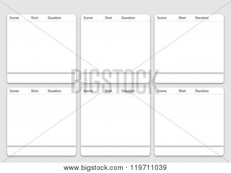 6 Frame Animation Storyboard Vector Photo Bigstock
