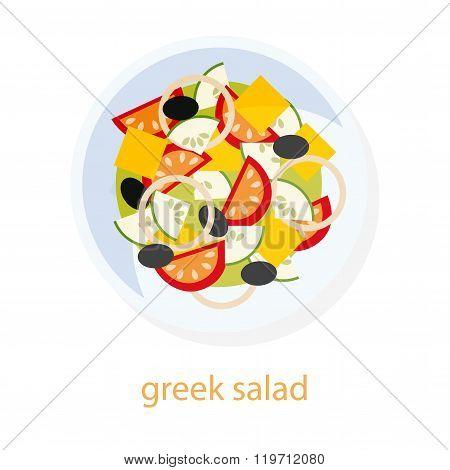 Greek salad dish