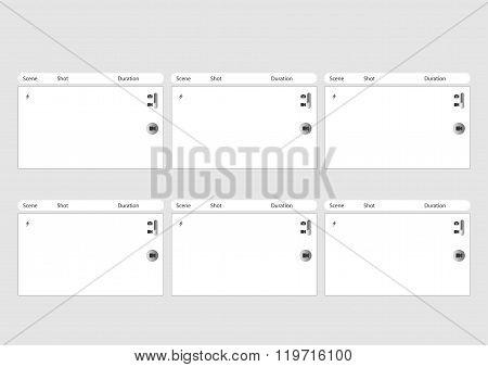 Mobile Phone Camera 6 Frame Storyboard Template