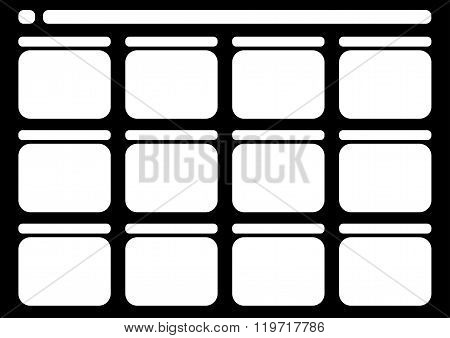 Traditional Television 12 Frame Storyboard Black
