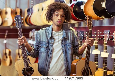 Man In Musical Shop