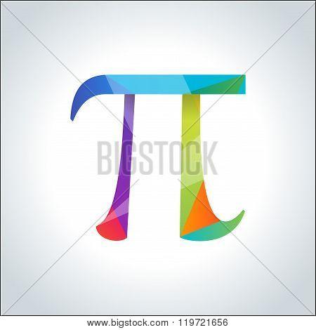Pi symbol icon.