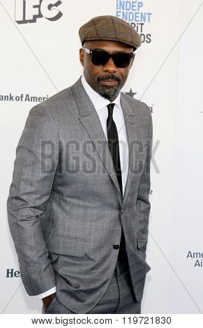 Idris Elba at the 2016 Film Independent Spirit Awards held at the Santa Monica Beach in Santa Monica, USA on February 27, 2016.Idris Elba