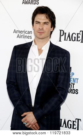 Ian Somerhalder at the 2016 Film Independent Spirit Awards held at the Santa Monica Beach in Santa Monica, USA on February 27, 2016.