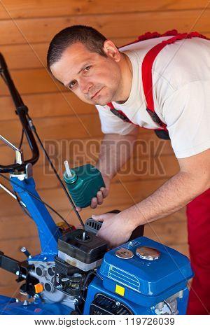 Maintenance Of A Small Tiller Machine