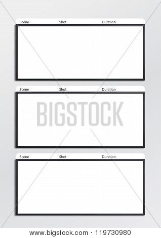 Film Storyboard Template Vertical Image  Photo  Bigstock