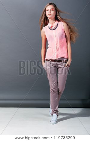 Fashion and trends.  model at fashion show