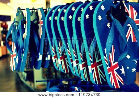 Flag On Feet