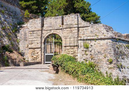 Gate To The Venetian Castle In Zakynthos City