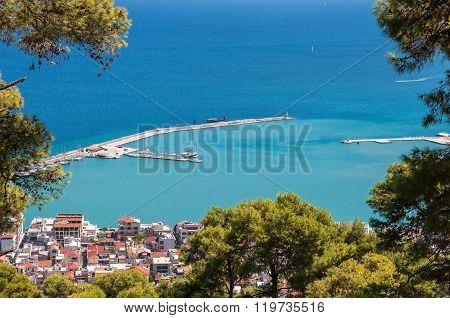 Port Entrance In Zakynthos