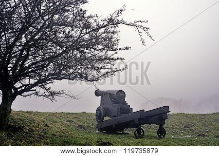 Big Black Cannon In Fredericia