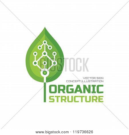 Organic structure - vector logo concept illustration. Leaf logo sign. Nature logo sign. Organic logo