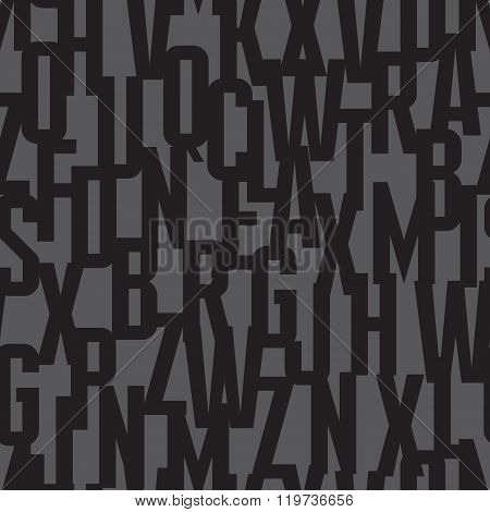 Font background - seamless vector pattern. Typography vector seamless background. Lettering concept