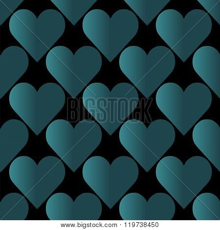 Seamless Colorful Abstract Pattern From Repetitive Hearts